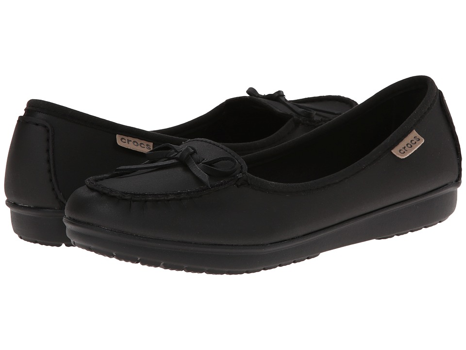 Crocs Wrap Color Lite Ballet Flat (Black/Black) Women