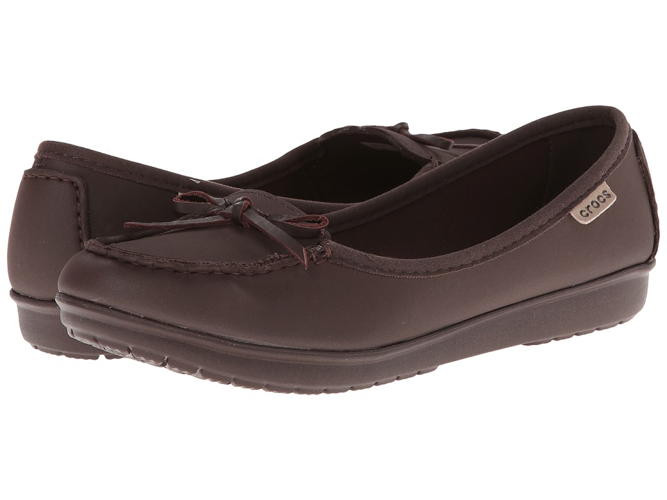 Crocs - Wrap Color Lite Ballet Flat (Mahogany/Mahogany) Women's Flat Shoes