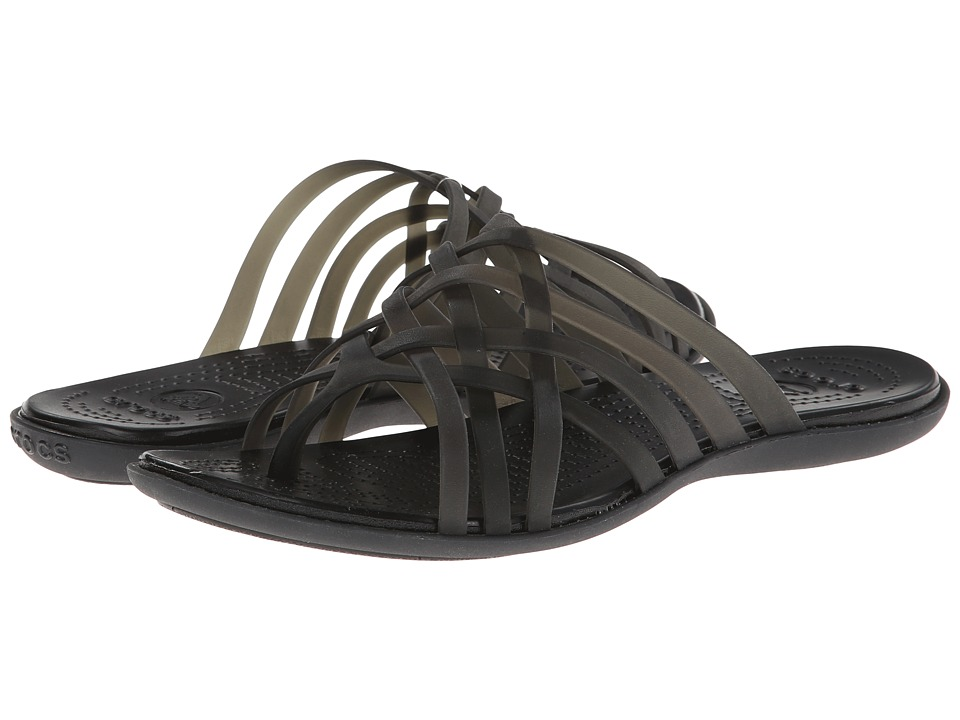 Crocs - Huarache Flip Flop (Black/Black) Women's Sandals