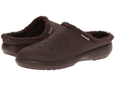 Crocs - Wrap Color Lite Lined Clog (Mahogany/Mahogany) Clog Shoes