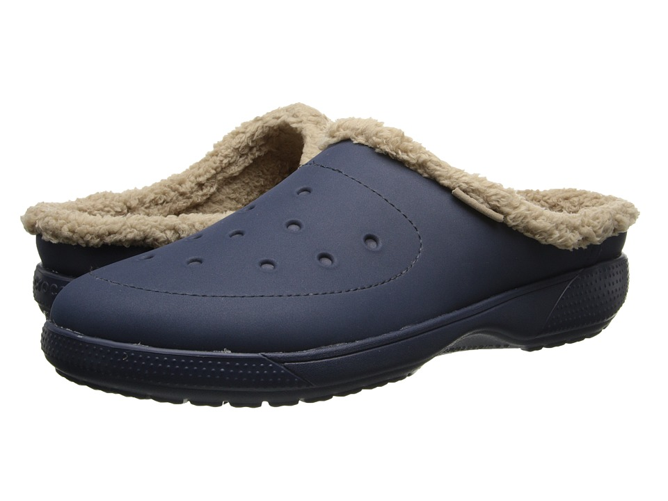 Crocs - Wrap Color Lite Lined Clog (Navy/Tumbleweed) Clog Shoes