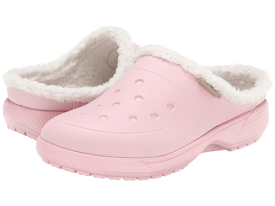 Crocs - Wrap Color Lite Lined Clog (Pearl Pink/Oatmeal) Clog Shoes