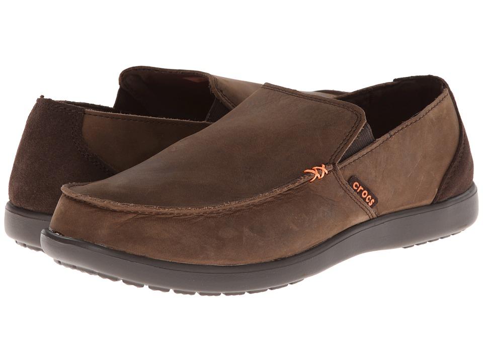 Crocs - Santa Cruz Leather Loafer (Espresso/Espresso) Men's Shoes