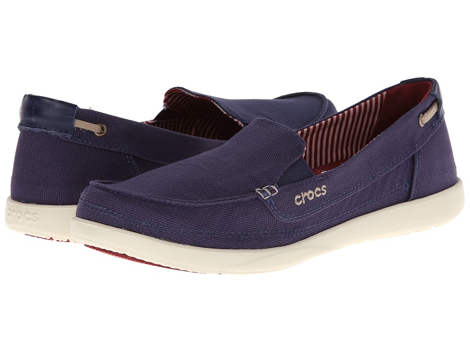 Crocs - Walu Canvas Loafer (Nautical Navy/Stucco) Women