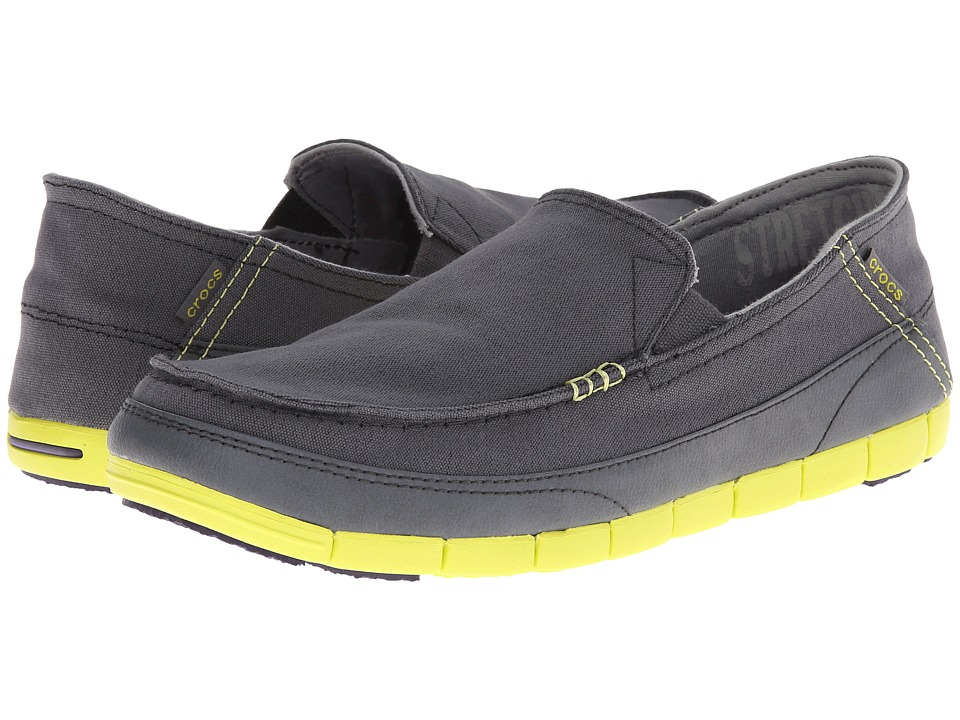 Crocs - Stretch Sole Loafer (Charcoal/Citrus) Men's Shoes