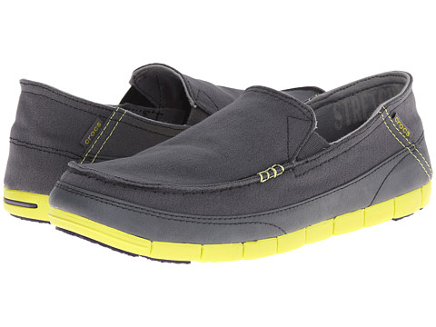 Crocs - Stretch Sole Loafer (Charcoal/Citrus) Men