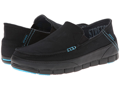 Crocs - Stretch Sole Loafer (Black/Black) Men