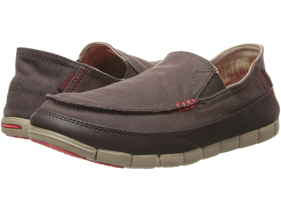 Crocs - Stretch Sole Loafer (Espresso/Khaki) Men