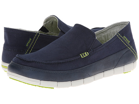 Crocs - Stretch Sole Loafer (Navy/Pearl White) Men's Shoes