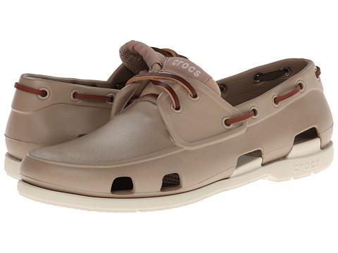 19f13bce5eda UPC 887350122770 product image for Crocs Beach Line Boat Shoe (Tumbleweed  Stucco) Men s ...