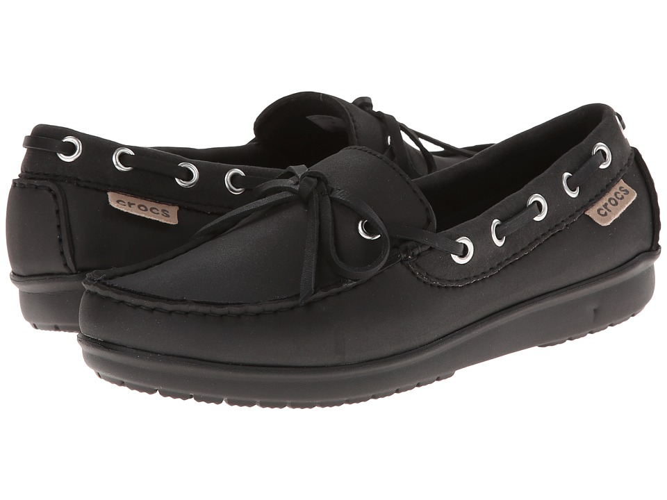 Crocs - Wrap ColorLite Loafer (Black/Black) Women's Slip on Shoes