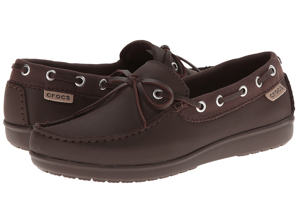 Crocs - Wrap ColorLite Loafer (Mahogany/Mahogany) Women's Slip on Shoes