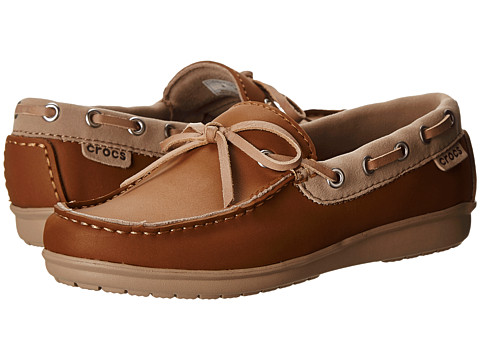 Crocs - Wrap ColorLite Loafer (Hazelnut/Tumbleweed) Women's Slip on Shoes
