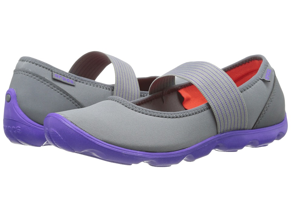 Crocs - Duet Busy Day Mary Jane (Graphite/Ultrviolet) Women's Maryjane Shoes