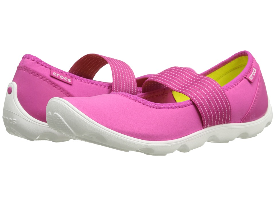 Crocs - Duet Busy Day Mary Jane (Candy Pink/White) Women
