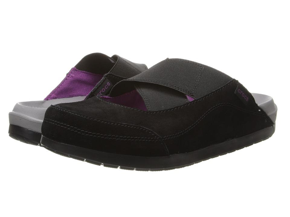 Crocs - Crocs Edie Mule (Black/Black) Women's Clog Shoes