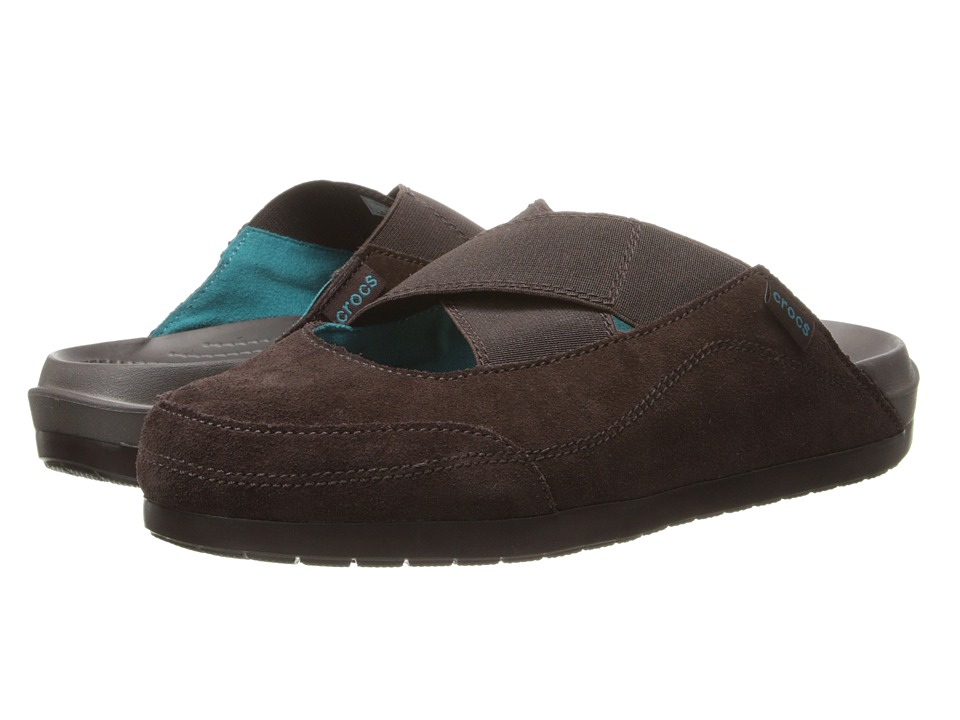 Crocs - Crocs Edie Mule (Mahogany/Mahogany) Women's Clog Shoes