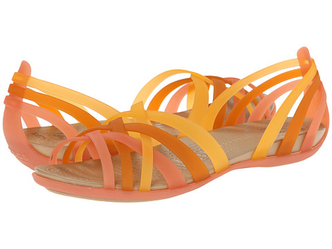 Crocs - Huarache Flat (Coral/Grapefruit) Women's Sandals