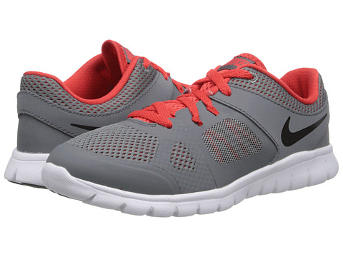Nike Kids - Flex 2014 Run (Little Kid) (Cool Grey/Light Crimson/White/Black) Boys Shoes