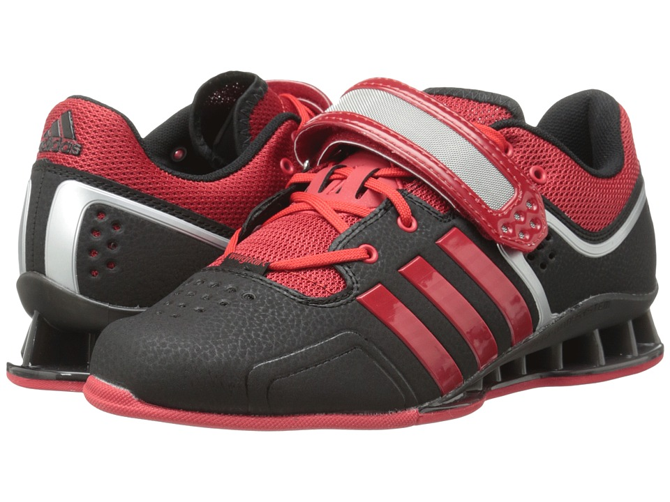 adidas - adipower Weightlift (Black/Scarlet/Tech Grey Metallic) Men's Shoes