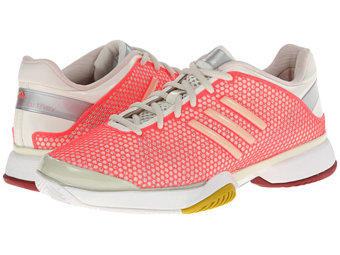 adidas - adidas by Stella McCartney - Barricade (Poppy Pink/Soft Powder/Red Zest) Women's Shoes