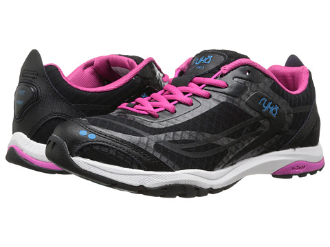 Ryka - Fit Pro (Black/Zuma Pink/Young Turquoise) Women's Shoes