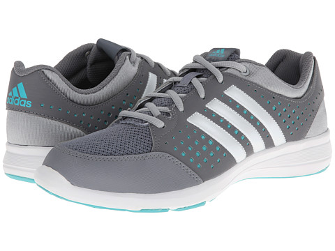 adidas - Arianna III (Grey/Zero Metallic/Vivid Mint) Women's Cross Training Shoes