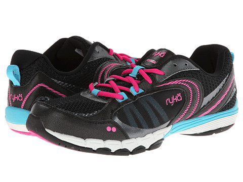 Ryka - Flextra (Black/Zuma Pink/Young Turquoise) Women