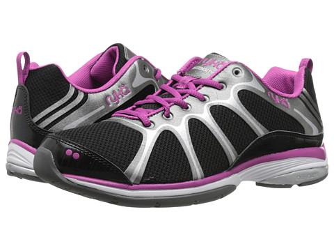 Ryka - Intensity 2 (Black/Deep Lilac/Metallic Steel Grey) Women's Cross Training Shoes