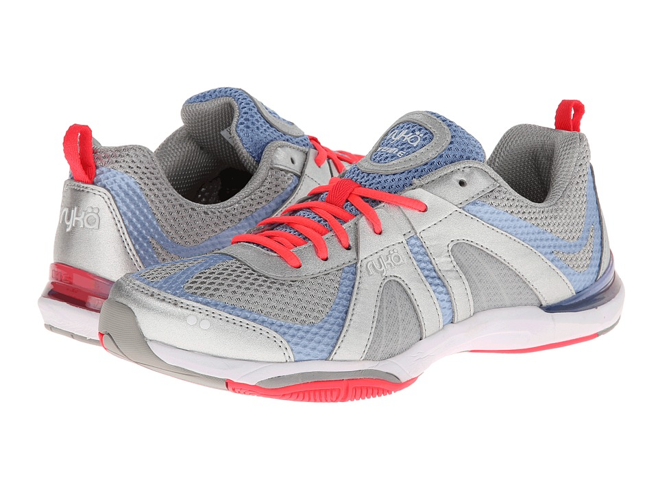 Ryka - Moxie (Chrome Silver/Elite Blue/Coral Rose/Vapor Grey) Women's Cross Training Shoes