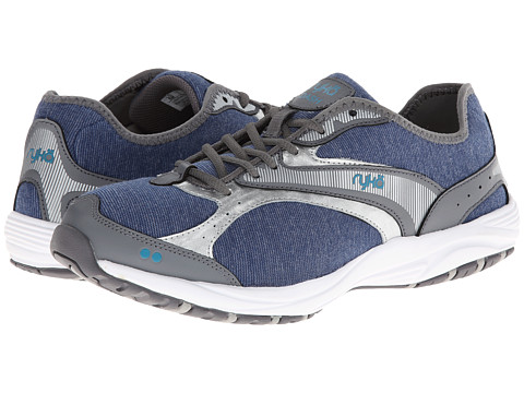 Ryka - Dash Stretch (Jet Ink Blue/Steel Grey/Chrome Silver/Diver Blue) Women