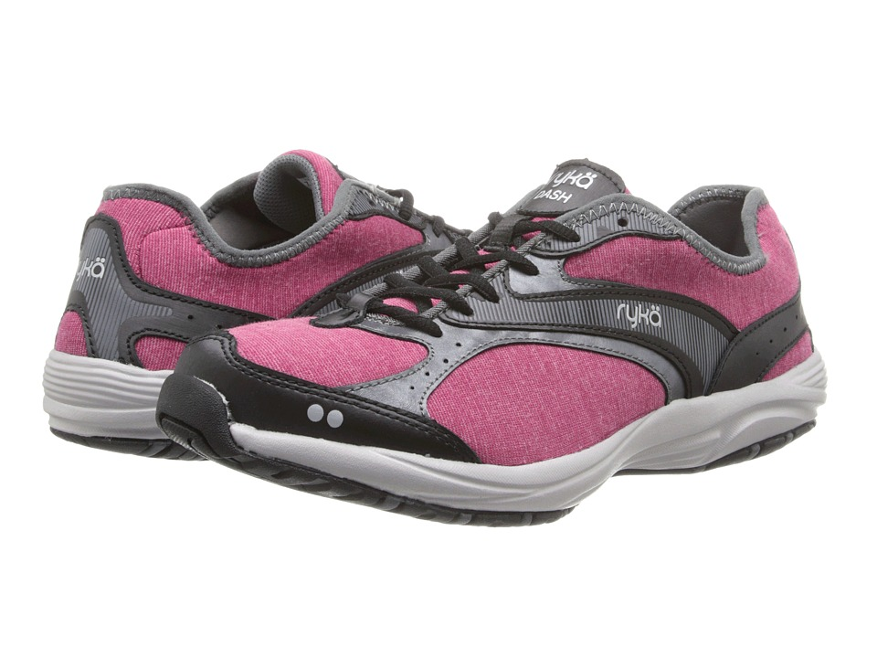 Ryka - Dash Stretch (Bright Maroon/Black/Iron Grey/Chrome Silver) Women's Shoes
