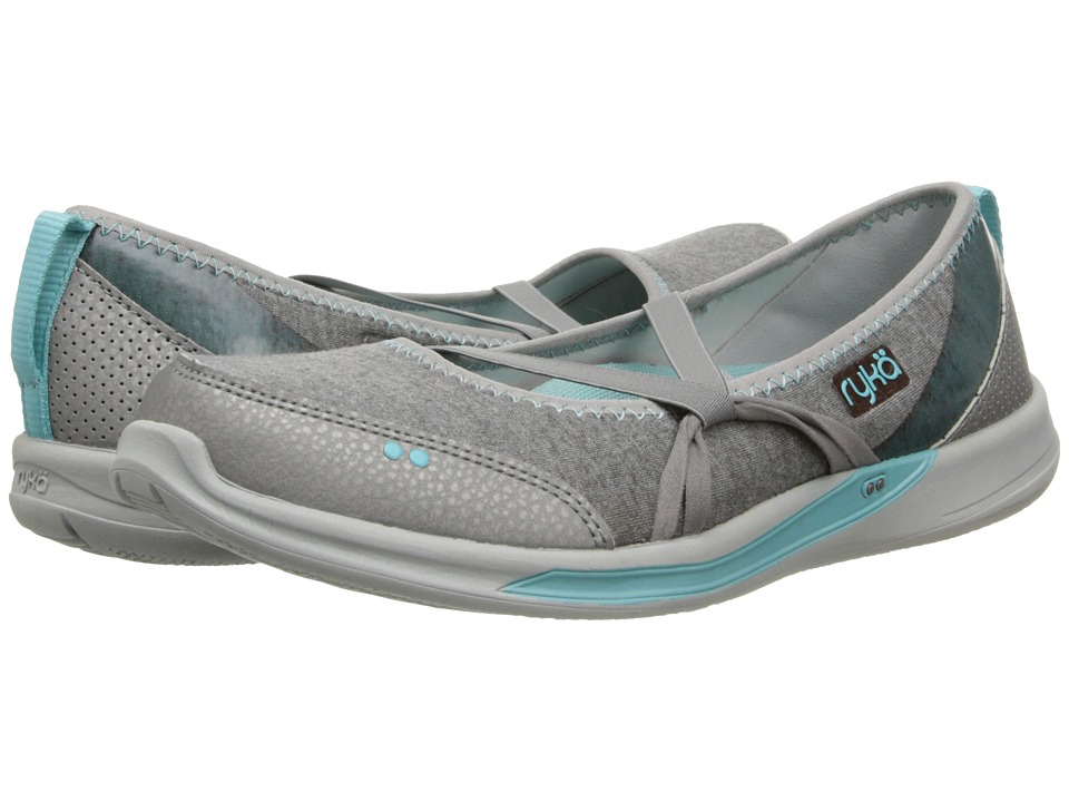 Ryka - Emotion (Forge Grey/Aqua Haze/Chrome Silver) Women's Shoes