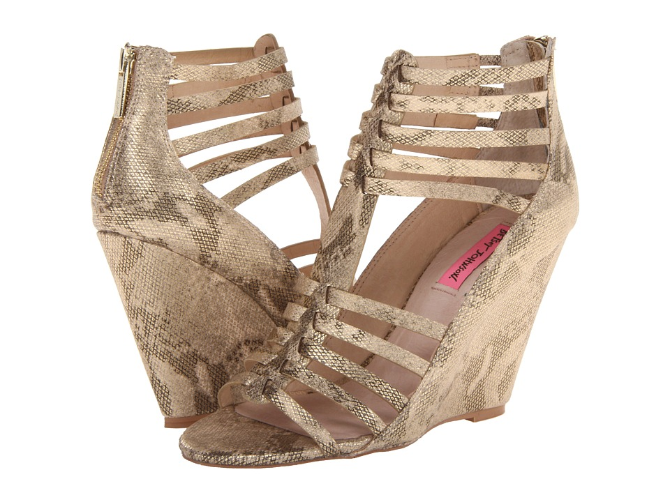 Betsey Johnson Bonito Gold Multi Womens Shoes