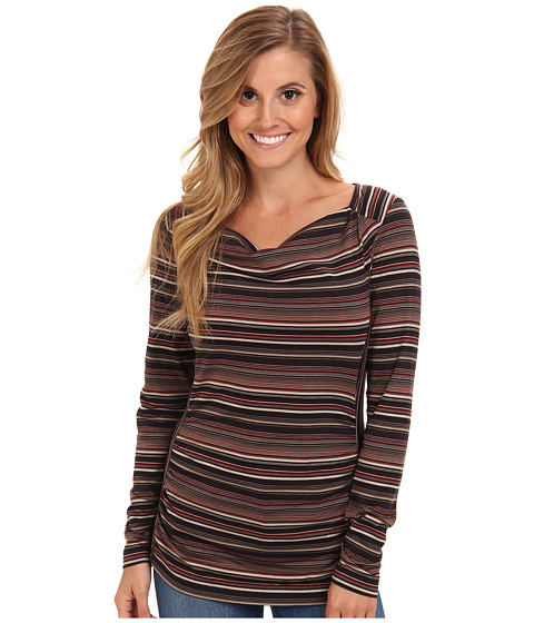 Royal Robbins - Essential Tencel Stripe Cowl Neck (Charcoal) Women's Sweater