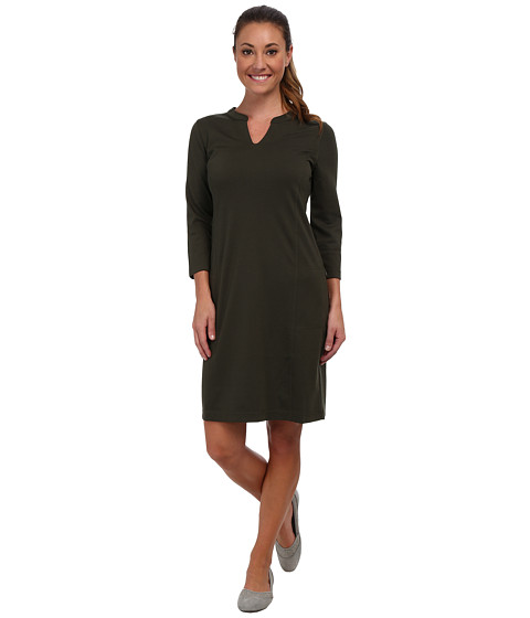 Royal Robbins - Ponte Travel Dress (Dark Galaxy Green) Women's Dress
