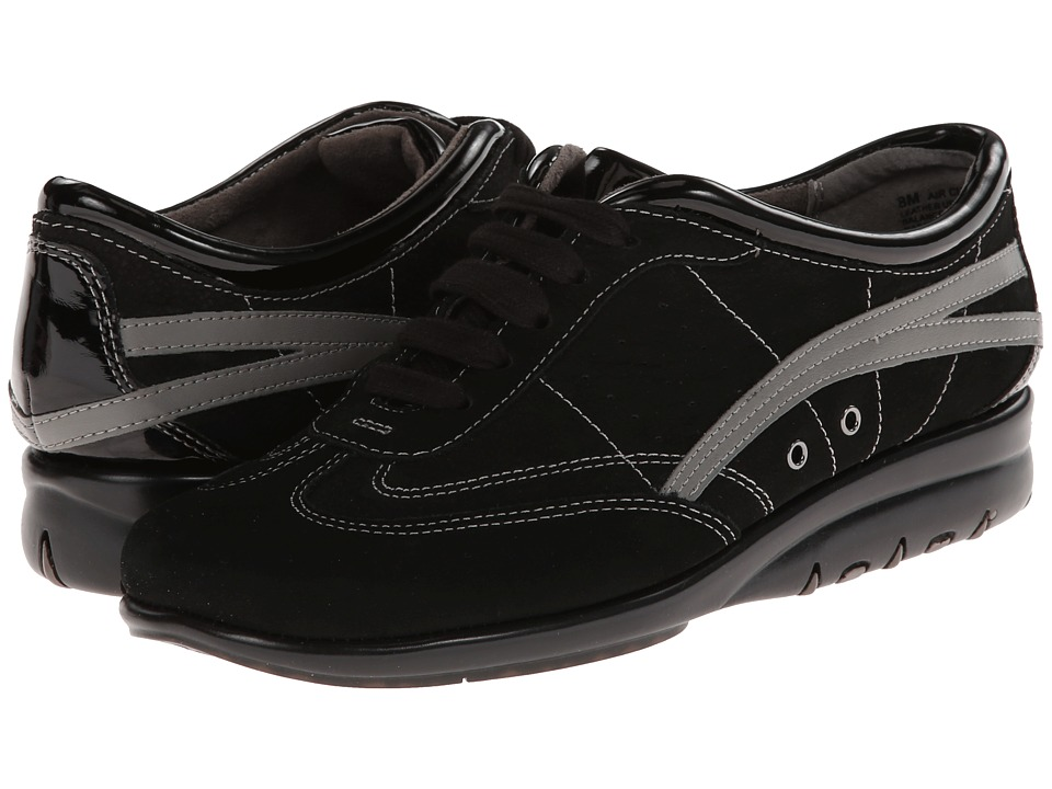 Image of Aerosoles - Air Cushion (Black Nubuck) Women's Lace up casual Shoes