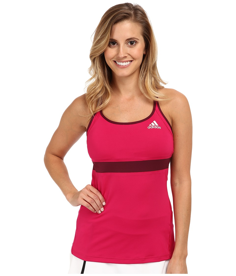 adidas - All Premium Strap Tank (Bold Pink/Amazon Red/White) Women