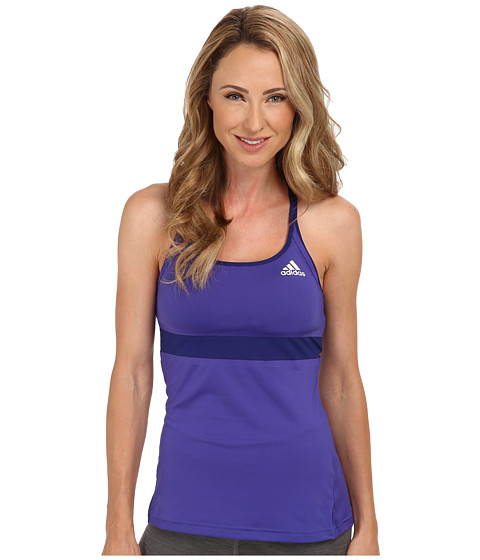 adidas - All Premium Strap Tank (Power Purple/Amazon Purple/White) Women's Sleeveless