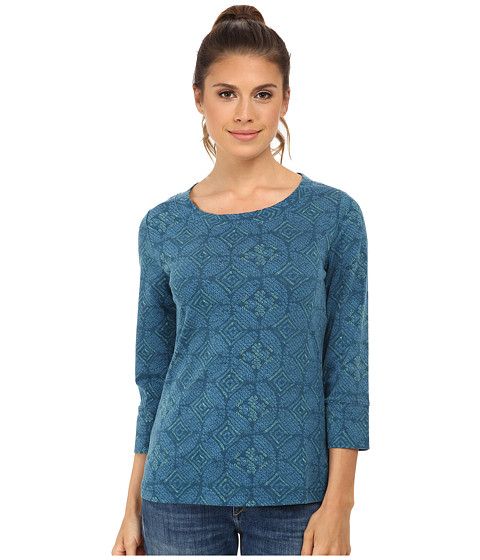 Royal Robbins - Essential Nara 3/4 Sleeve (Deep Blizzard Blue) Women