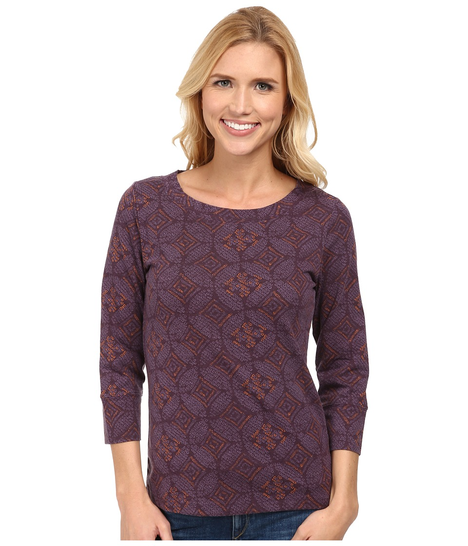 Royal Robbins - Essential Nara 3/4 Sleeve (Blackberry) Women's Long Sleeve Pullover