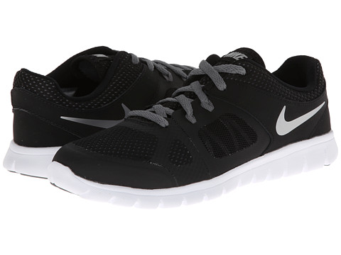 Nike Kids - Flex 2014 Run (Little Kid) (Black/Cool Grey/White/Metallic Silver) Boys Shoes