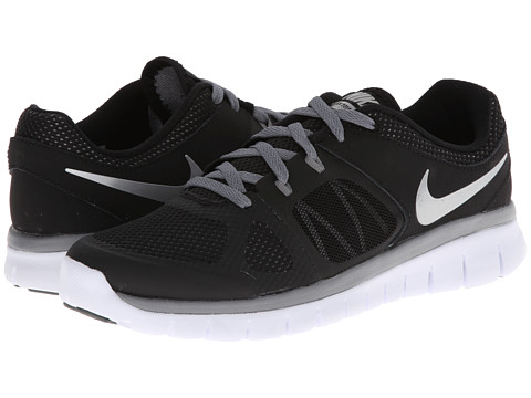 Nike Kids - Flex 2014 Run (Big Kid) (Black/Cool Grey/White/Metallic Silver) Boys Shoes