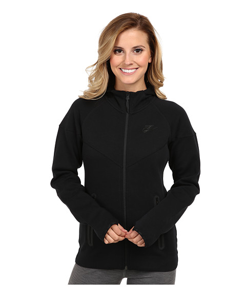 Nike - Tech Fleece FZ Hoodie (Black/Black) Women's Sweatshirt