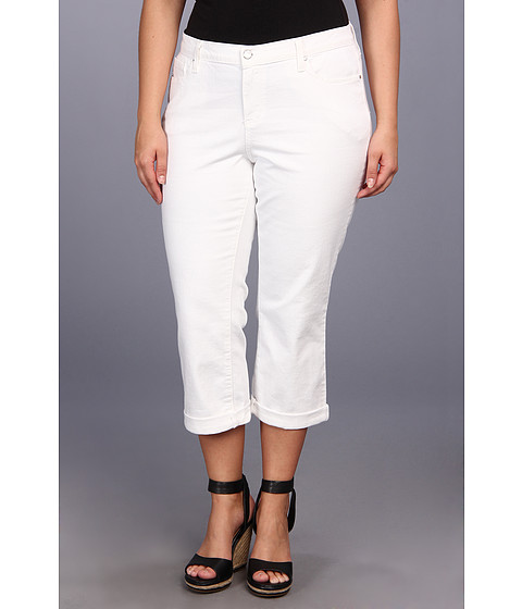 DKNY Jeans - Plus Size Soho Skinny Rolled Crop 23 in White (White) Women