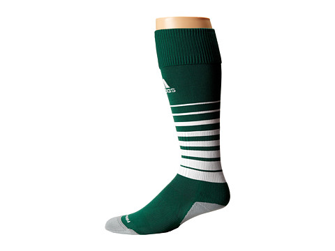adidas - Team Speed Soccer Sock (Forest/White) Knee High Socks Shoes