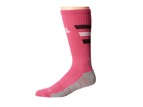 adidas - Team Speed Traxion Crew Sock (Intense Pink/Black/White) Crew Cut Socks Shoes