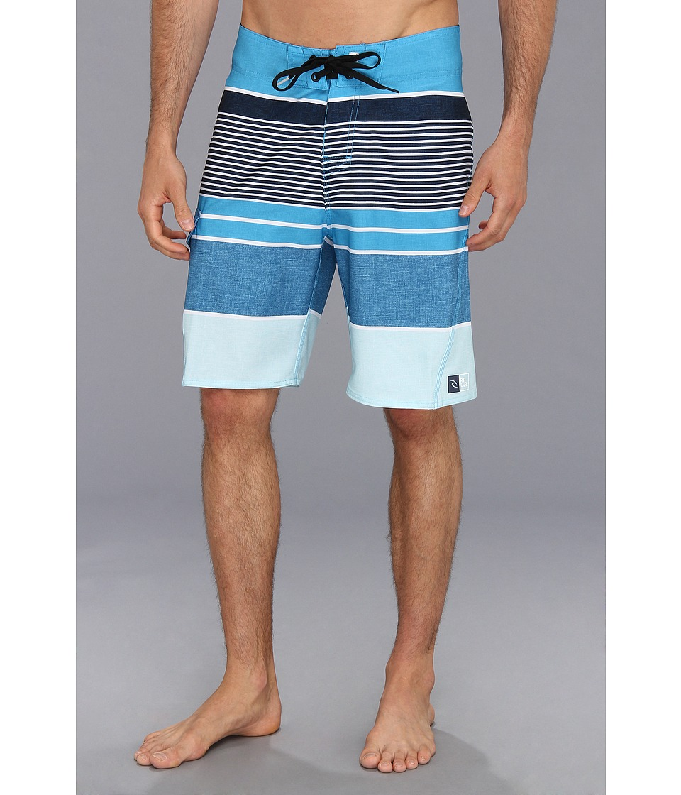 Rip Curl Livin Stripe Boardshort Mens Swimwear (Blue)