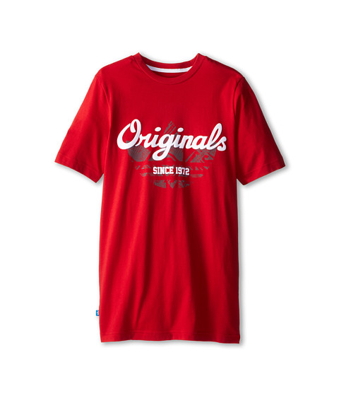adidas Originals Kids - Rock Tee 3 (Toddler/Little Kid/Big Kid) (Power Red) Kid's T Shirt