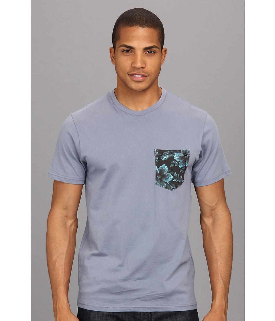 Rip Curl Pocket Combo Crew Mens Short Sleeve Pullover (Gray)